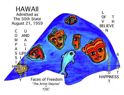 Painting - Hawaii by Deprise Brescia