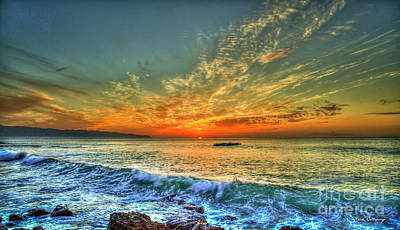 Photograph - Hawaii Five O Sunset North Shore Oahu Hawaii Collection Art by Reid Callaway