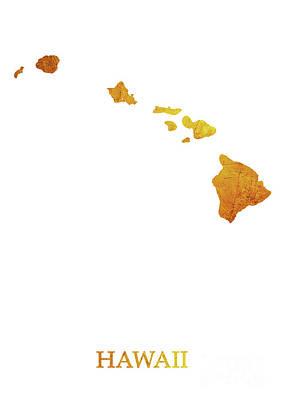 Gold Digital Art - Hawaii - Gold White by Prar Kulasekara