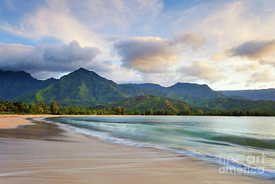 Long Exposure Photograph - Hawaii Hanalei Dreams by Monica and Michael Sweet