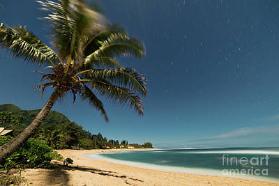 Photograph - Hawaii Moonlit Beach Wainiha Kauai Hawaii by Dustin K Ryan