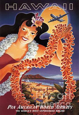 Airways Painting - Hawaii by Nostalgic Prints