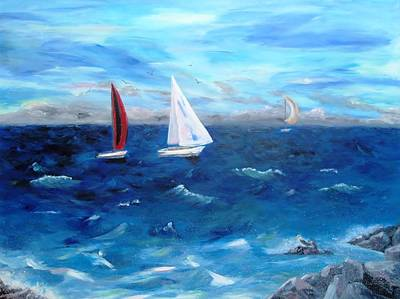 Painting - Hawaii Sail by Jamie Frier