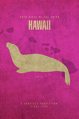 Movie Mixed Media - Hawaii State Facts Minimalist Movie Poster Art by Design Turnpike