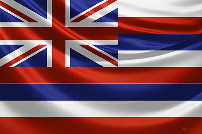 Digital Art - Hawaii State Flag by Serge Averbukh