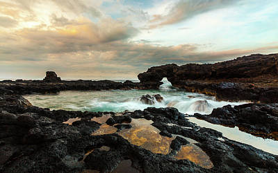 Photograph - Hawaii Sunrise At Sea Arch by Lace Andersen