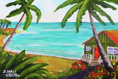 Hawaii Tropical Beach Art Prints Painting #418 Art Print by Donald k Hall