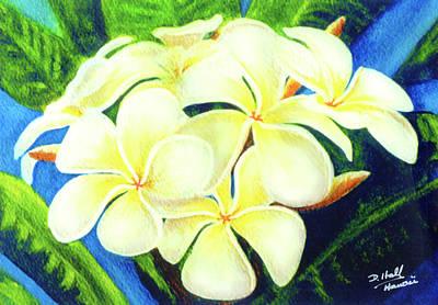 Hawaii Tropical Plumeria #158 Art Print by Donald k Hall