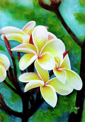 Hawaii Tropical Plumeria Flower #225 Art Print by Donald k Hall