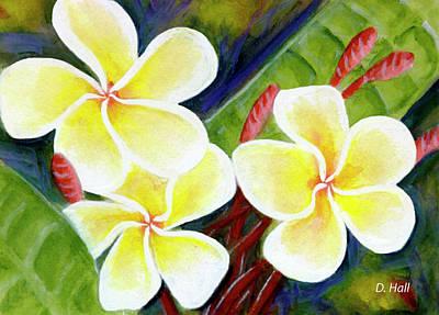 Hawaii Tropical Plumeria Flower #298, Art Print by Donald k Hall