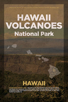 Hawaii Volcanoes National Park In Hawaii Travel Poster Series Of National Parks Number 30 Art Print