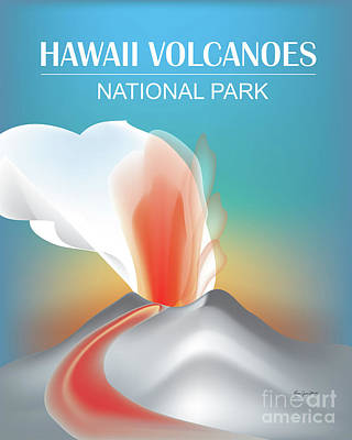 Hawaii Volcanoes National Park Vertical Scene Art Print