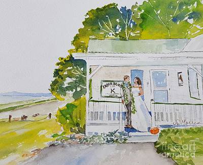 Painting - Hawaii Wedding.  Kahua Ranch by Jill Morris