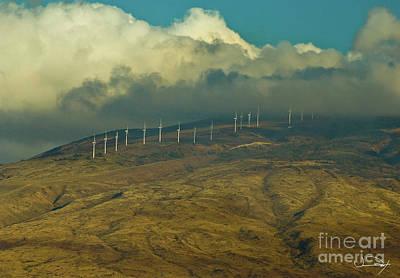 Hawaii Windmills On Maui One Art Print by Vance Fox