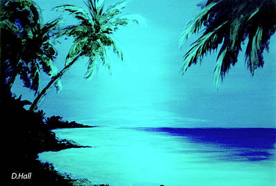 Hawaiian Beach Art Painting #188 Art Print by Donald k Hall
