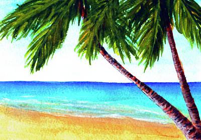 Hawaiian Beach Palm Trees  #425 Art Print by Donald k Hall