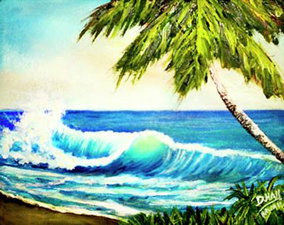 Hawaiian Beach Wave #420 Art Print by Donald k Hall