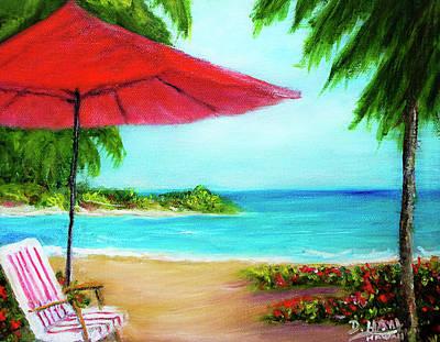 Hawaiian Beach Wave Art Print Painting #441 Art Print by Donald k Hall