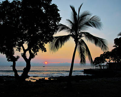Hawaiian Big Island Sunset  Kailua Kona  Big Island  Hawaii Art Print