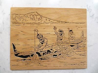 Hawaiian Canoe Original by Kris Martinson