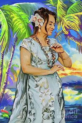 Painting - Hawaiian Dance by Tim Gilliland