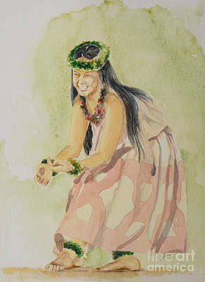 Hawaii Hula Dancer Painting - Hawaiian Dancer by Gretchen Bjornson