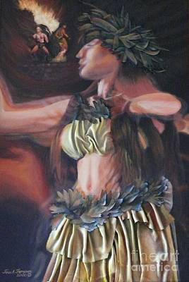 Painting - Hawaiian Dancers by Terri Thompson