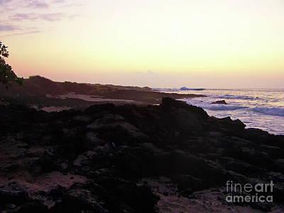 Photograph - Hawaii  Beach Dawn by Expressionistart studio Priscilla Batzell
