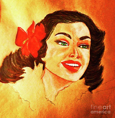 Photograph - Hawaiian Girl by Elizabeth Hoskinson