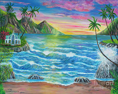 Painting - Hawaiian Glory Fire by Mike De Lorenzo
