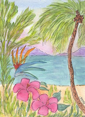 Marcy Painting - Hawaiian Hibiscus by Marcy Brennan