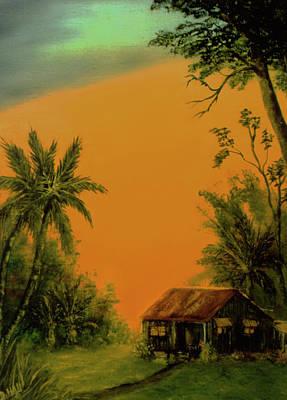 Hawaiian Homestead Sunset #05 Art Print by Donald k Hall