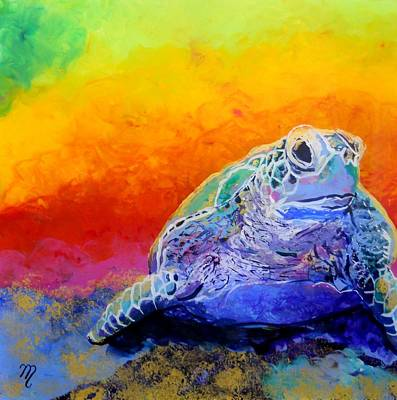 Hawaiian Painting - Hawaiian Honu 4 by Marionette Taboniar