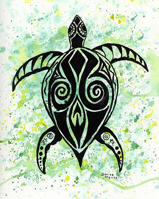 Painting - Hawaiian Honu by Darice Machel McGuire
