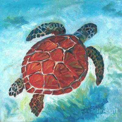 Painting - Hawaiian Honu by Janet McDonald