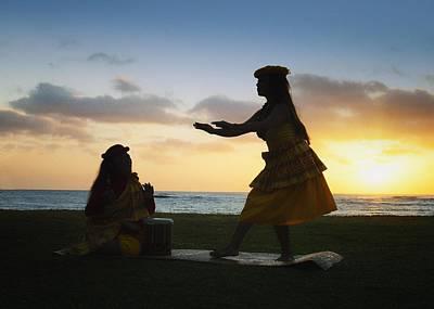 Photograph - Hawaiian Hula Dancer by OLena Art Brand
