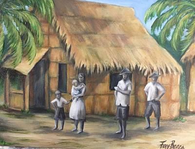 Painting - Hawaiian Hut - 1920's by FayBecca Designs