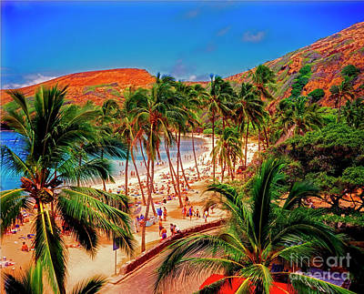 Photograph -  Hawaiian Islands Hanauma State Park, Beach And Underwater Park  by Tom Jelen