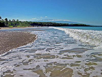 Hawaiian Landscape Of Hapuna Beach Art Print