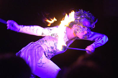 Photograph - Hawaiian Luau Fire Eater 2 by Jill Reger
