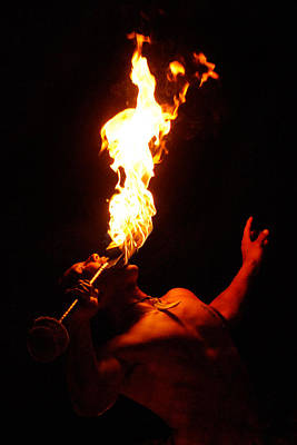 Photograph - Hawaiian Luau Fire Eater by Jill Reger