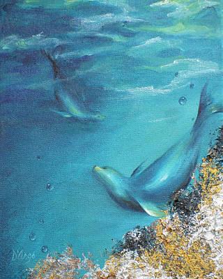 Art Print featuring the painting Hawaiian Monk Seals by Dina Dargo