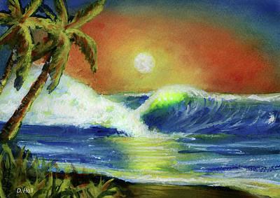 Hawaiian Moon #399 Art Print by Donald k Hall