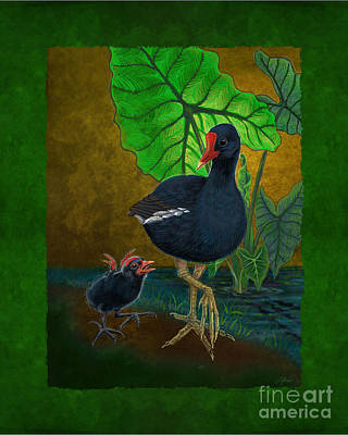 Digital Art - Hawaiian Moorhen Or Gallinule by Tammy Yee
