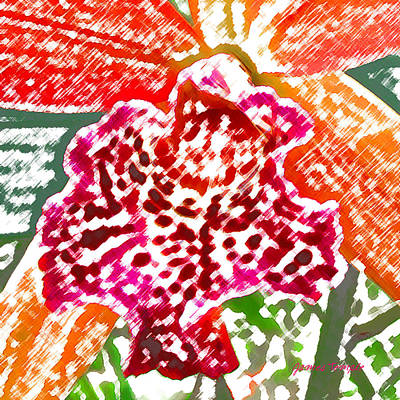 Shirt Digital Art - Hawaiian Orchid by James Temple