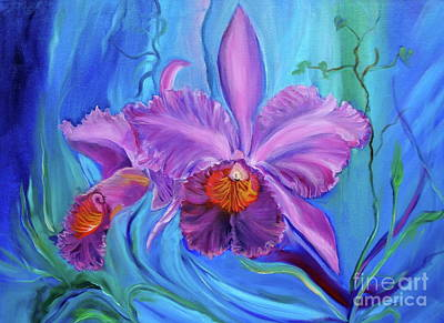 Painting - Hawaiian Orchid Lavender by Jenny Lee