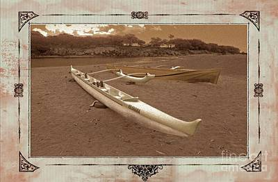 Photograph - Hawaiian Outigger Canoes Ver 3 by Larry Mulvehill
