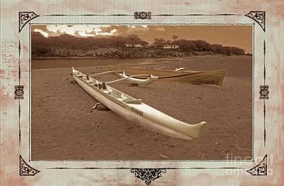 Photograph - Hawaiian Outigger Canoes Ver 3 by Larry Mulvehill