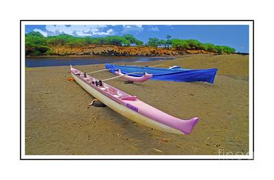 Photograph - Hawaiian Outigger Canoes Ver 4 by Larry Mulvehill