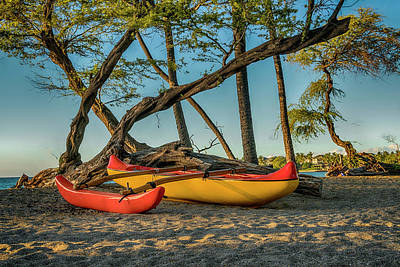 Photograph - Hawaiian Outrigger Canoe Hawaii 7r2_dsc5196_01182018 by Greg Kluempers
